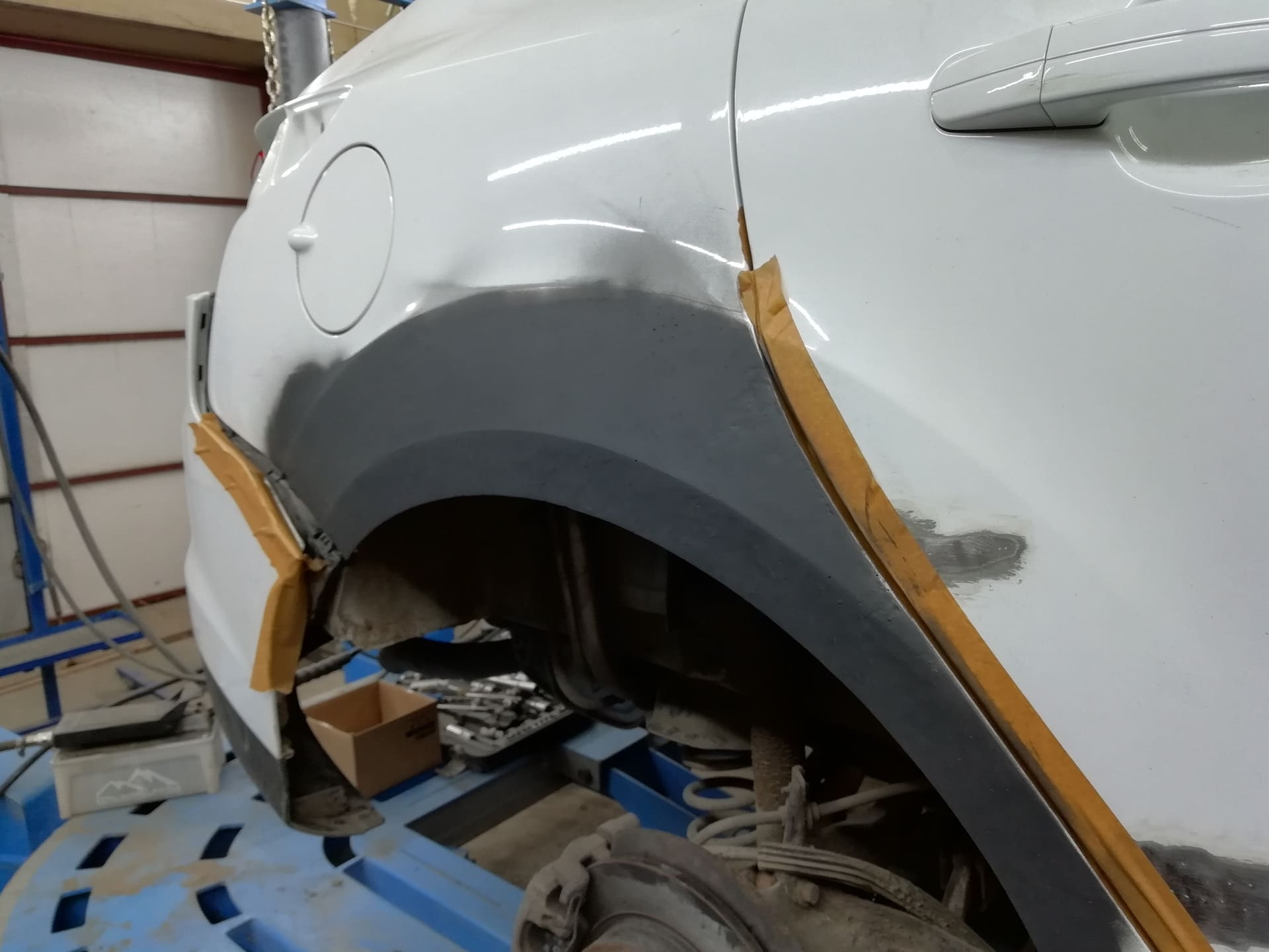 фото ремонта крыла